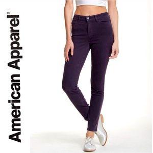 American Apparel High Rise 27 Pencil Skinny Jeans
